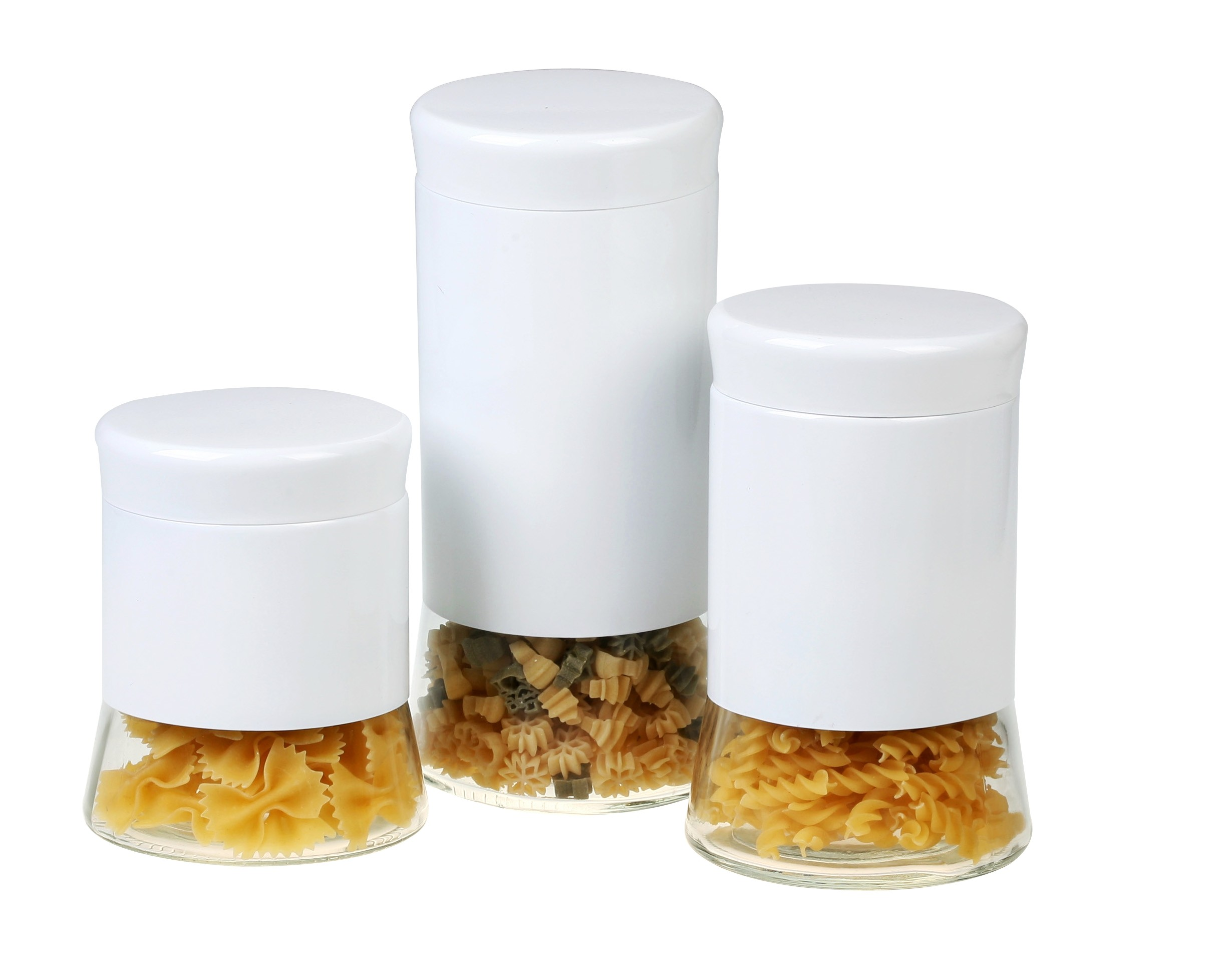 GBS3022 Flairs 4 piece White Canister Set