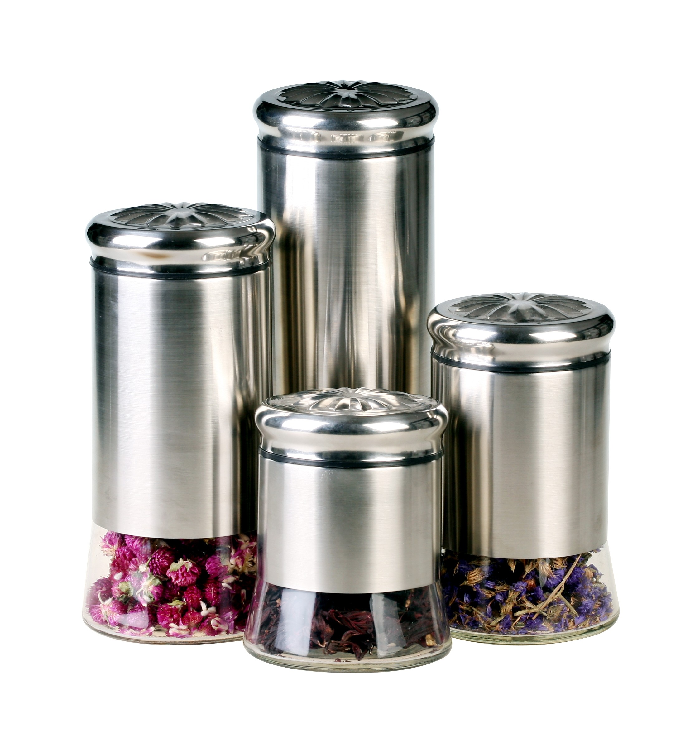 canisters for the kitchen gbs3024 helix 4 piece canister set kitchen canisters