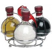 GOBJ1821 Oil Gift Set includes Sea Salt, Balsamic Vinegar, Olive Oil